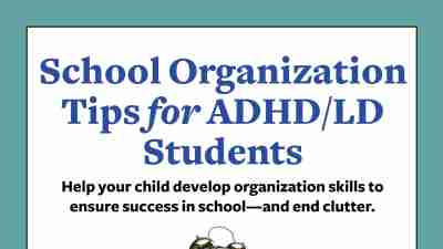 School Organization Tips for ADHD