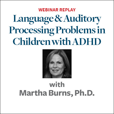 language and auditory processing problems in children with adhd