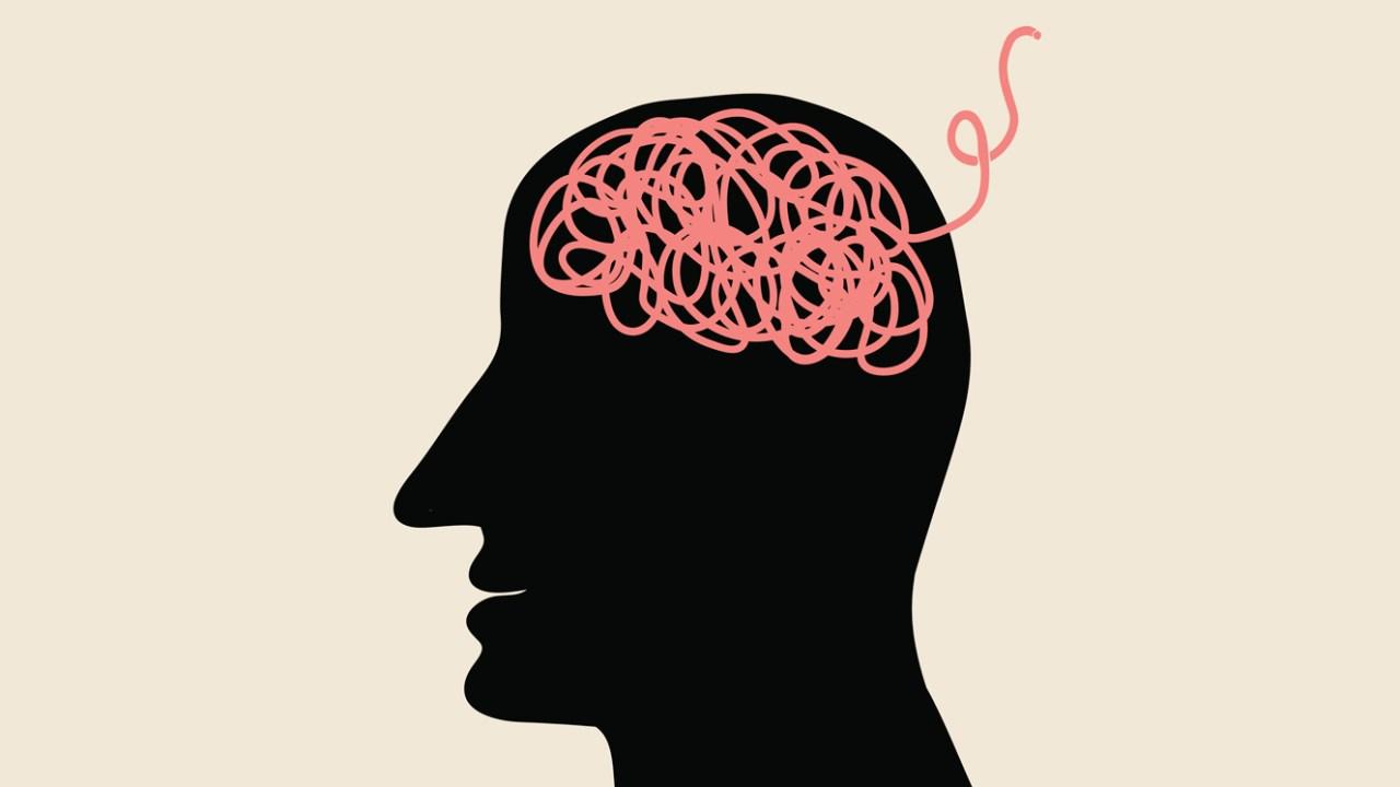 A cartoon image representing the ADHD brain