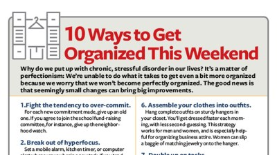 10 Ways to Get Organized This Weekend