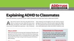 Free Download: Explaining ADHD to Classmates