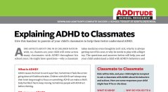 Free Download: Explaining ADHD to Classmates