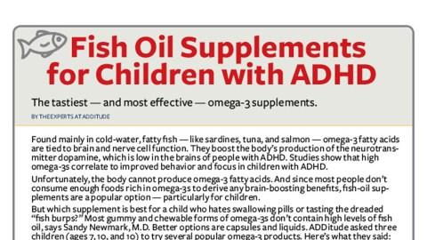 Best fish oil for kids with adhd free downloadable guide for Fish oil adhd