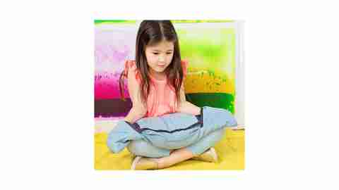 The Denim Pocket lap pad is a great product for fidgety children with ADHD