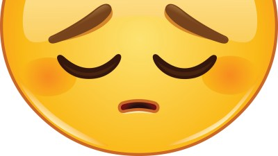 A yellow emoji face dealing with shame caused by ADHD