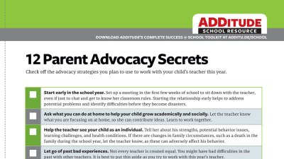 12 Parent Advocacy Secrets: A Free Guide