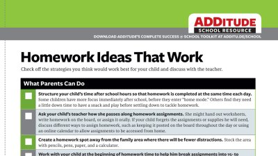 Free Guide to Homework Ideas That Work