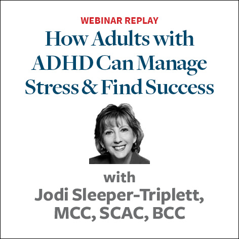 how adhd adults can manage stress and find success