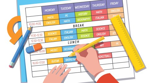 A cartoon schedule to help students manage their behavior