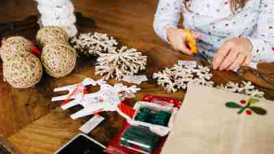 A child avoids holiday drama by crafting gifts instead of shopping