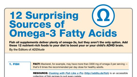 Adhd And Diet Effect Of Omega 3 Fatty >> Omega 3 Foods For Adhd Free Treatment Resource For Add