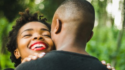 A couple embraces and talks about their sex life and intimacy with ADHD.