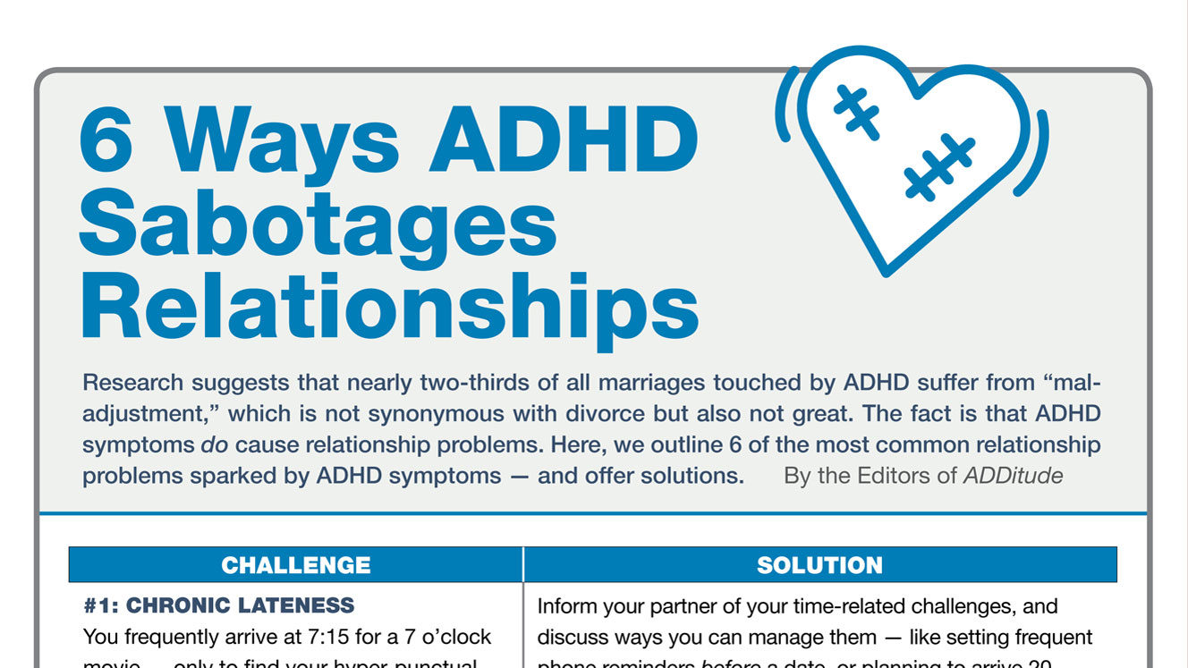 Things to know when dating someone with adhd