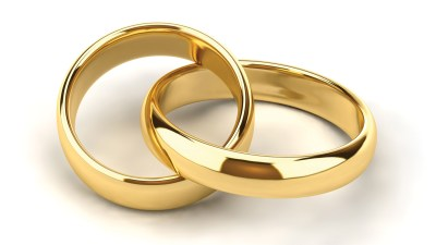 Two golden wedding rings, symbolizing how ADHD affects relationships