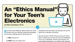 """An """"Ethics Manual"""" for Your Teen's Electronics Time"""