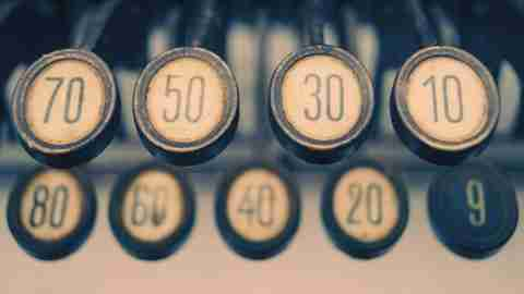 Numbers on an adding machine represent the challenges of diagnosing dyscalculia in children