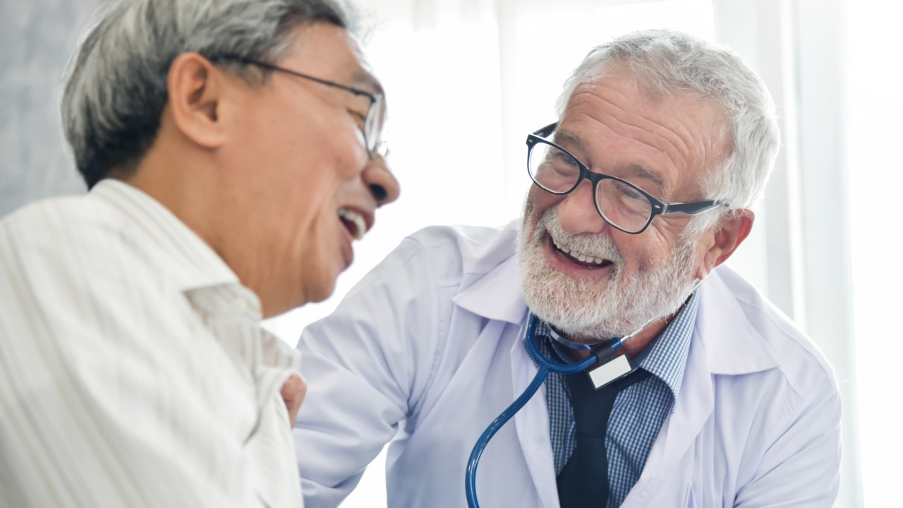 Doctor with Elderly ADHD patient