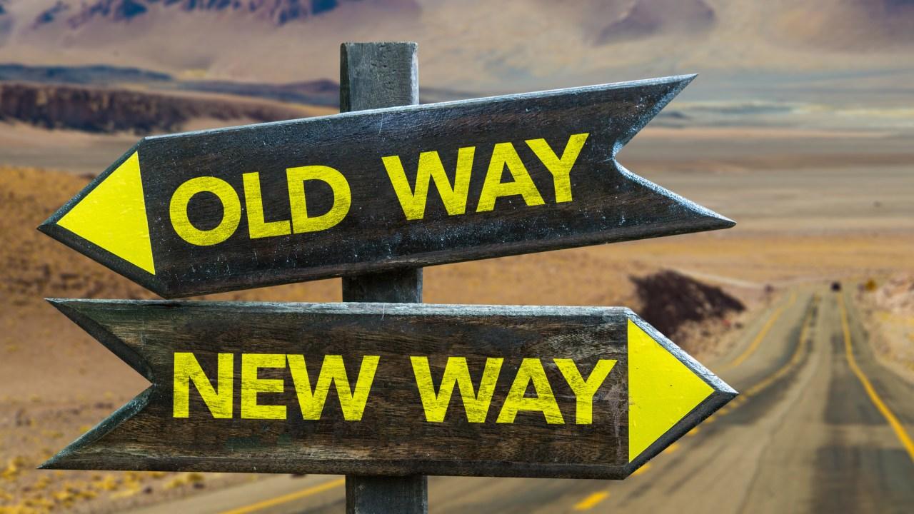 Old Way New Way Signs