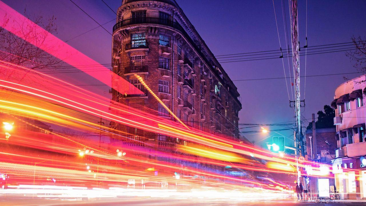 Blur of fast lights representing hyperactive impulsive ADHD