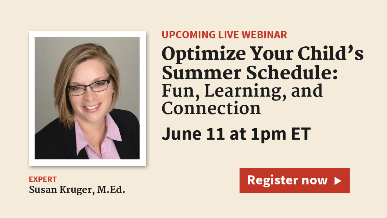 What's the Best Summer Schedule for My Child or Teen with ADHD?