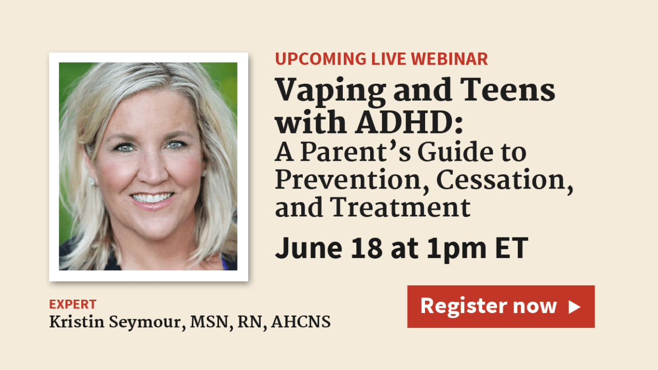 Vaping: A Parents' Guide to Prevention, Cessation, and Treatment
