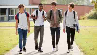 Group Of Male Teenagers