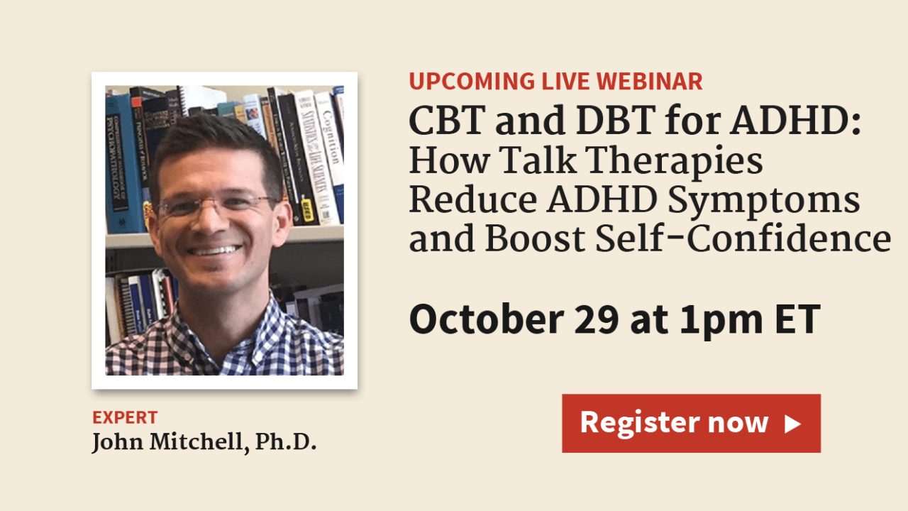 CBT and DBT for ADHD: Talk Therapy for Adults with ADD