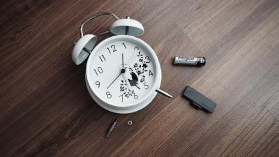 Alarm clock with battery removed by teen who hates waking up