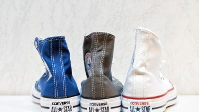 Three Chuck Taylor Converse All-Stars shoes representing different types of ADHD