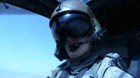 Nathaniel Swann, a U.S. Army aviator, in action.