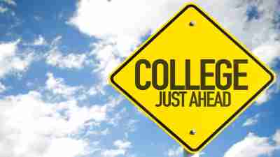 college readiness - colelge just ahead sign