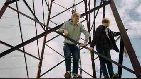 Boys with ADHD standing on scaffold