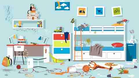 Messy children's room