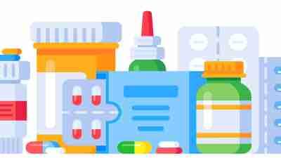 ADHD medications - illustration of different medication formulations