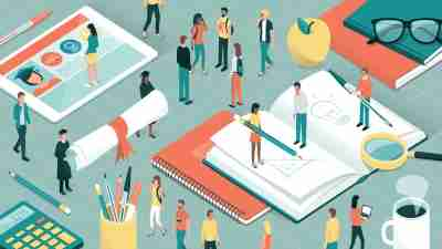 how to succeed in college concept