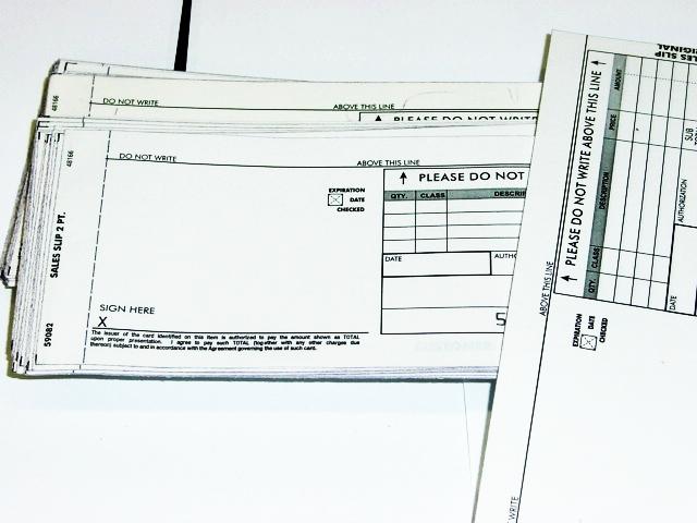 Manual Sales Slips Plastic Card Imprinter Ticket