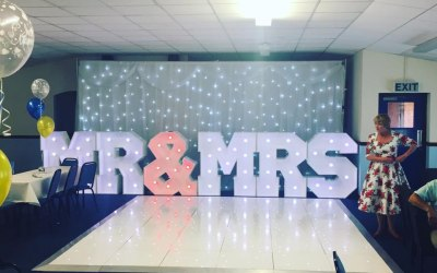 chair cover hire merseyside folding canvas chairs outdoor furniture formby party covers mr and mrs letters along with backdrop dancefloor