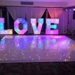 Chair Cover Hire Merseyside Renfrewshire Formby Party Covers Love Letters Led Dancefloor