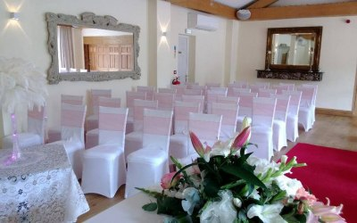 chair covers wedding london rattan folding chairs jda hire waltham forest coral sashes and white spandex cover
