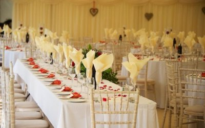 wedding chair cover hire pembrokeshire david rowland dingle marquee limited marquees and tents