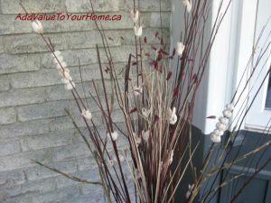 Fall front door planters