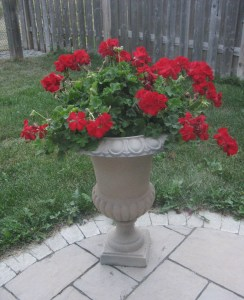 Spray Painting Planter Urns