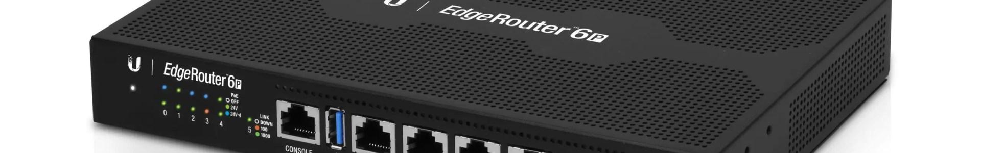 EdgeRouter 6P ראוטר מקצועי