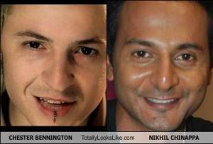 CHESTER BENNINGTON Totally Looks Like NIKHIL CHINAPPA
