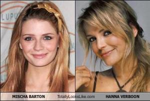 MISCHA BARTON Totally Looks Like HANNA VERBOON