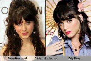 Zooey Deschanel Totally Looks Like Katy Perry
