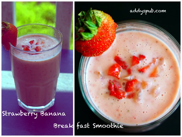 Strawberry Banana Breakfast Smoothie