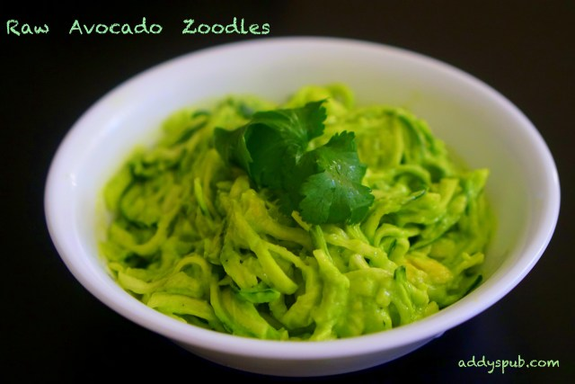 Raw Avocado Zoodles