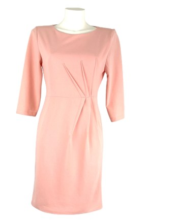 crepe dress with side pleat
