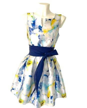 flowewrprinted dress